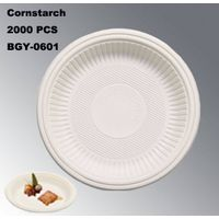 BGY-0601 Plate cornstarch tableware eco-friendly disposable plate thumbnail image
