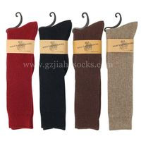 ribbed wool socks knee high winter socks wholesales from china