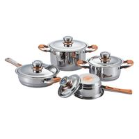 8 pcs wide edge stainless steel pot great wall bottom