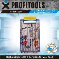 14pcs Multi-Construciton & Tile Max Drill Set