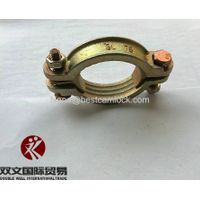 galvanized steel double bolt clamp