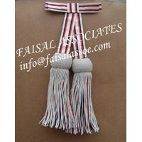 Sash Crimson Officers Ceremonial Belt With Tassels thumbnail image