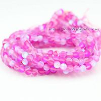Wholesale Imitated Opal Fuchia Glass Beads Round for Jewelry Making 4 6 8 10 12mm