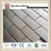 kitchen stainless steel backsplash tile mosaic thumbnail image