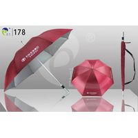 Hot Sell Aluminum Golf Umbrella,Silver Coating Anti-UV,Fiber Ribs with Spring,Light & Easy to Open