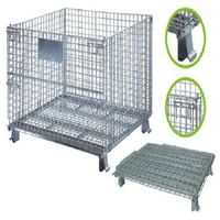 Foldable Storage Units Metal Baskets Wire Mesh Container Cage thumbnail image