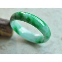 Native green and white Jade bangle 56mm C1548