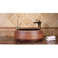 Handmade Ceramic Art Wash Basin High-end Classical Contemporary Bathroom Sinks