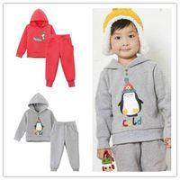Wholesale Unisex kids' cotton sets hoodies and trousers boy leisure wear suits thumbnail image