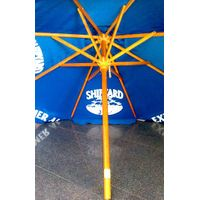 Wooden Parasol Umbrella with sunbrella canopy printed 4C logo thumbnail image