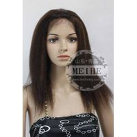 Blend 2# and 30# kinky straight lace front wigs thumbnail image