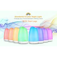 150ml Essential Oil Diffusers for Aromatherapy, Quite Diffuser Humidifier with 8 Color Night Lights,