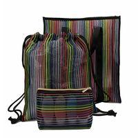 Polyester Mesh Beach Bag, Drawstring Bag and Toiletry Bag Set thumbnail image