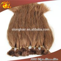 Unprocessed Remy Silky Double Drawn Straight human Bulk Hair