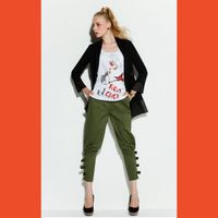 lady's casual cropped pant