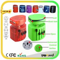 World travel adapter with CE&FCC&ROHS and usb charger