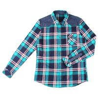 long sleeve men's flannel check shirts