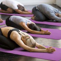 Yoga Mat 10mm Thick Gym Exercise Fitness Pilates Workout Mat Non Slip thumbnail image