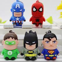 PVC mold can be customized for various cartoon people USB flash memory, Superman, Iron Man, Batman thumbnail image