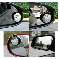 1Pair New Driver 2 Side Wide Angle Round Convex Car Vehicle Mirror Blind Spot Auto RearView thumbnail image