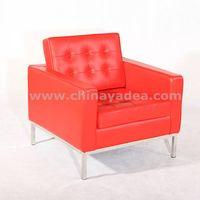 Modern furniture premium leather Florence Knoll sofa thumbnail image