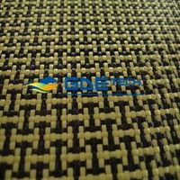 3k kevlar carbon fiber hybird fabric yellow,carbon aramid hybird cloth