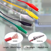 Best Selling 5 Color Double-ended Crocodile Clip Test Lead Cable Alligator Clips Cable thumbnail image