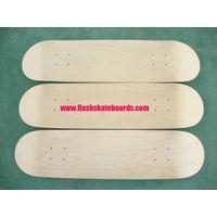 Unstained Skateboard Decks