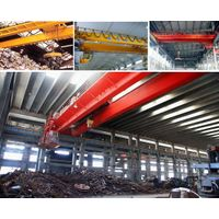 Electromagnetic double girder overhead crane