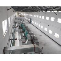 Urea molding compound belt dryer