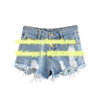 2019 New designs colored high waist short jeans USA punchy street stylish ladies vintage denim