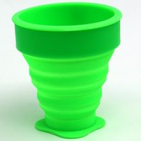 Wholesale Colorful Tableware Flexible Foldable Reusable Silicone Collapsible Cup