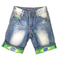 Knee-Length 5-Pocket High Quality Fashion Men Jeans thumbnail image