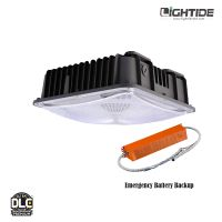 Lightide UL924 120W LED Garage light Fixtures Emergency Battery Backup, 5 yrs warranty