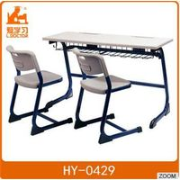 Metal Double Chair and Desk of Student Furniture
