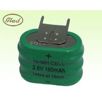 3.6V 160mAh Ni-MH Battery Pack NiMH Button Cell Pack