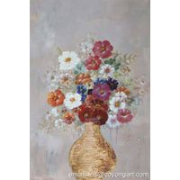 Hand painted flower bouquet oil painting on canvas