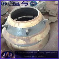 high manganese steel casting concave and mantle cone crusher bowl liner
