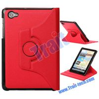 360 Degree Rotation Leather Case for Samsung GALAXY Tab 7.7 P6810 P6800 (Hot Red)
