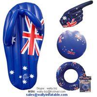 Australian inflatable beach set (inflatable thong+ Aussie flag hand+ beach ball + swim ring)