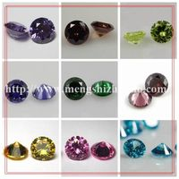 Synthetic Diamond Cut Cubic Zirconia Color Chart Brilliant Round Cut CZ Stone