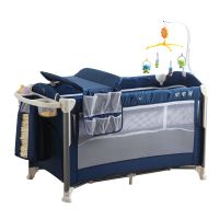 New Born Multi Function Foldable Baby Travel Playpen Bed Portable Infant Crib, new born baby cot bed thumbnail image