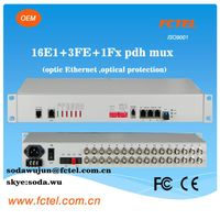 optical protection 16e1+ 3FE+1FX with optical ethernet pdh multiplexer