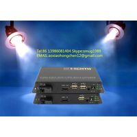 KVM fiber optic extender,support HDMI+USB+IR signals transmission over 1 fiber to 100KM for remote v thumbnail image