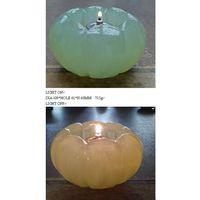 Imitation jade glass candle holder