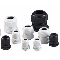 Grey & Black Metric Nylon 50mm Cable Gland , Nylon Plastic Pvc Cable Gland Dustproof thumbnail image