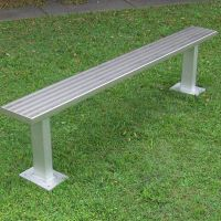 high quality outdoor sports aluminum benches without back