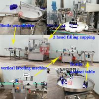 YB-YX4 Automatic bottle filling machine for 10ml 15ml 30ml 60ml glass dropper bottle filling line thumbnail image