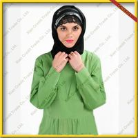 2014 Newest muslim women abaya made of 100% sandwash cotton KDT - 1013