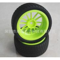 High-resilience rubber vacuum caster wheel,6 cornner inside 1/10 running car wheel Arduino Accessory